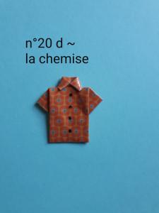 n°20 d - la chemise